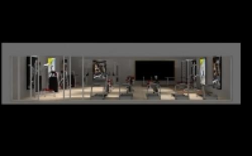 150㎡企业健身房配置方案