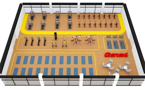 ¥25万-500㎡健身房器材套餐方案