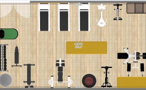 ¥56000-60㎡健身房器材套餐方案