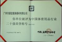 中国体育用品20强